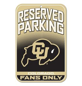 RESERVED PARKING CU BUFFS SIGN