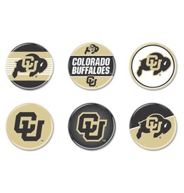 CU BUFFALOES 6 PACK BUTTONS