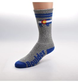 FOR BARE FEET Boulder Colorado 2 Stripe Sock
