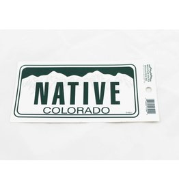 COLORADO NATIVE LICENSE PLATE STICKER