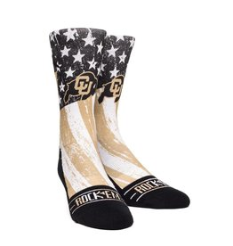ROCK EM COLORADO BUFFALOES  STARS & STRIPES SOCK