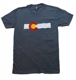 SPECIALTY STATE OF COLORADO STRIPE TRIBLEND TEE