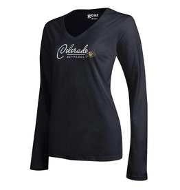 GEAR FOR SPORTS WMNS COLO BUFFALOES MIA V-NECK LS TEE