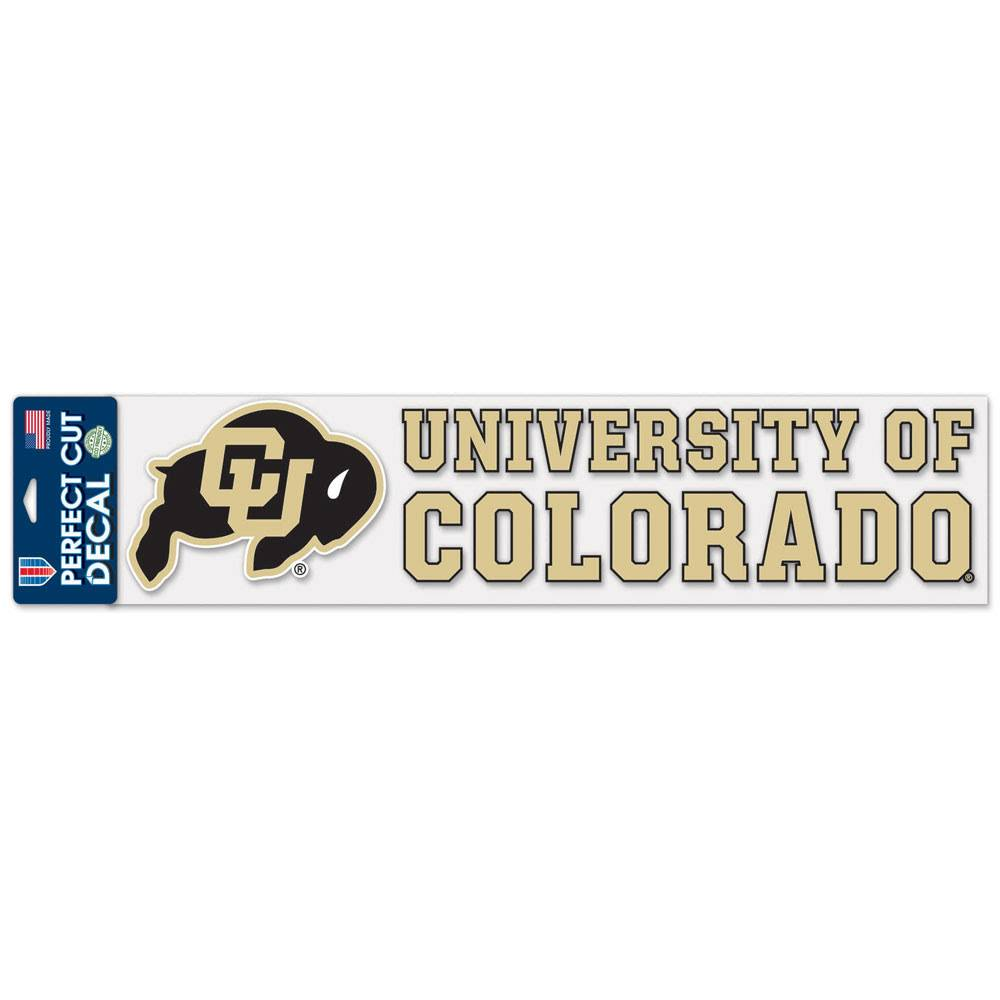 "PERFECT CUT UNIV OF COLO 4""X17"" DECAL"