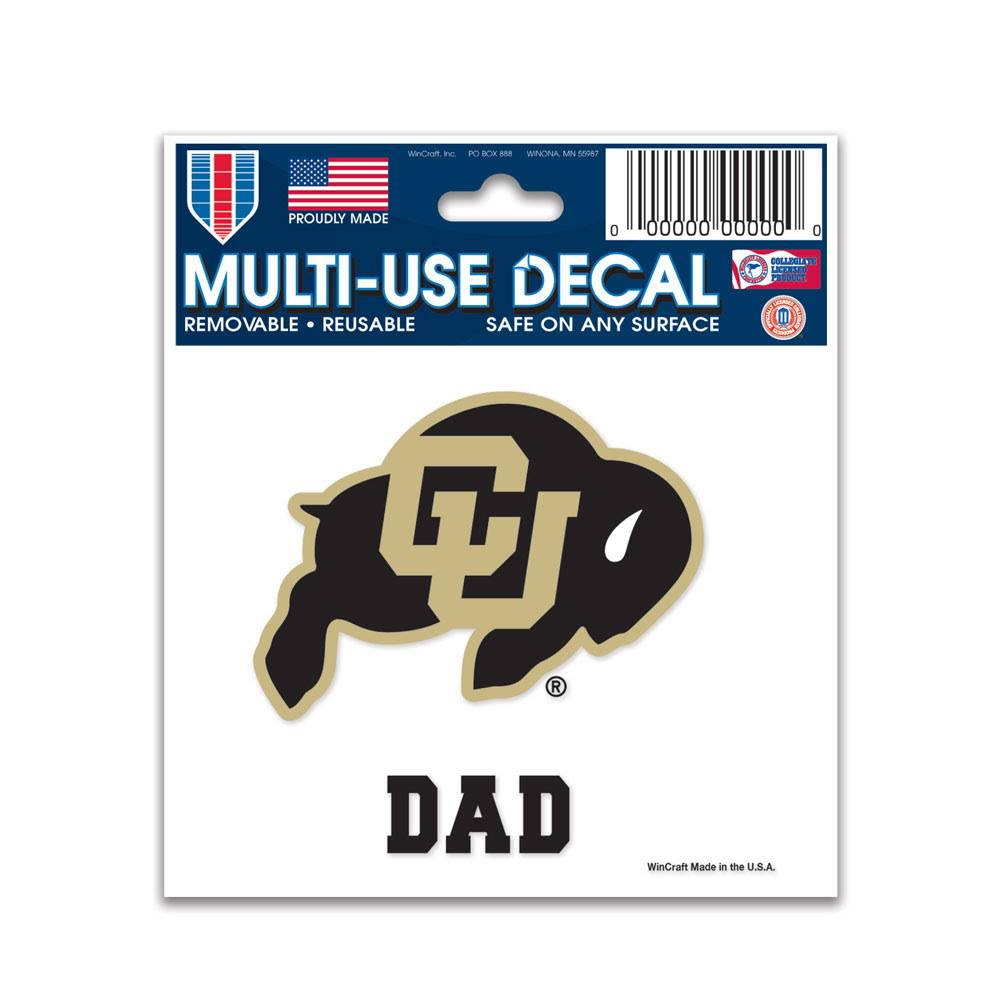 "CU DAD 3"" X 4"" MULTI USE DECAL"