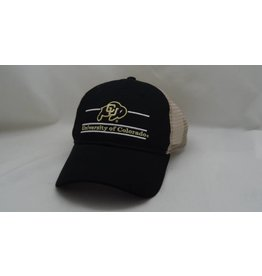 CU LOGO BLACK GAME MESH BACK HAT