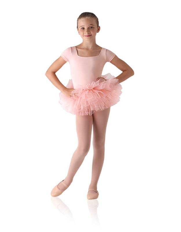 Leo's LD143CK: Children's Tutu Skirted Short Sleeve Leotard