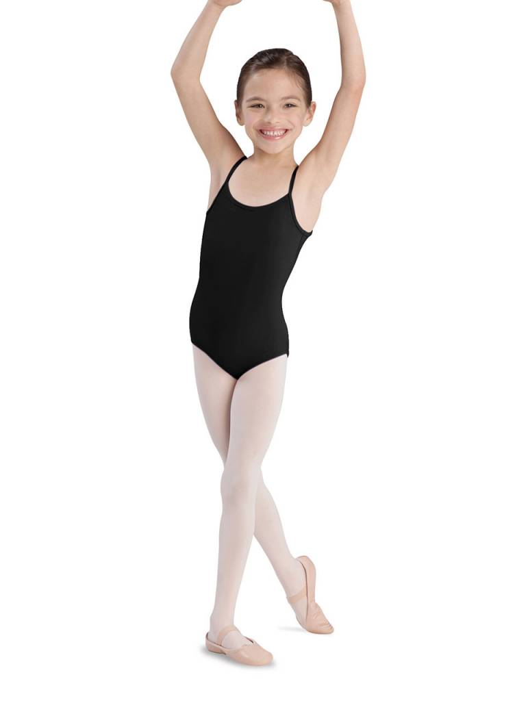 Bloch CL5407: Bloch Plie Girls' Thin Strap Dance Leotard