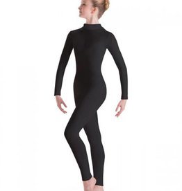 MotionWear Long Sleeve Unitard with Mock-T Zip Back