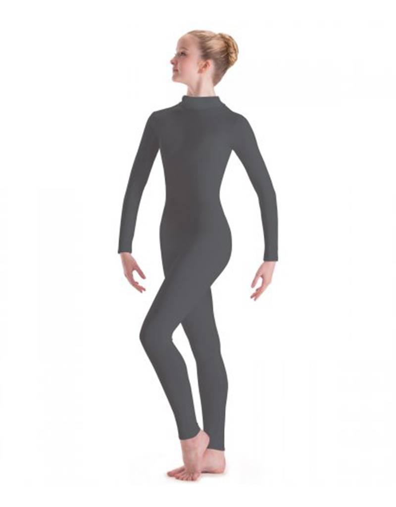 MW6662: MotionWear Long Sleeve Dance Unitard with Mock-T Zip Back