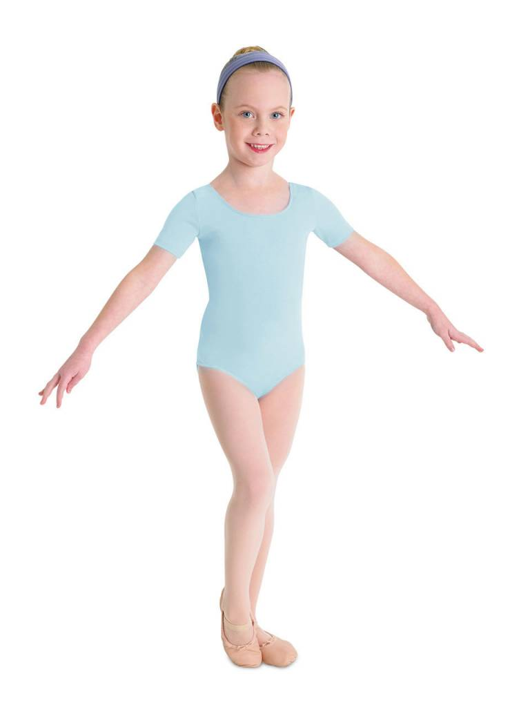 Bloch CL5402: Bloch Girls' Basic Short Sleeve Leotard