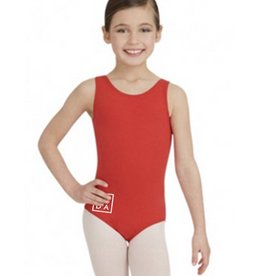 Capezio Girls' DADA Red Birds Tank Leotard (Two Logos)