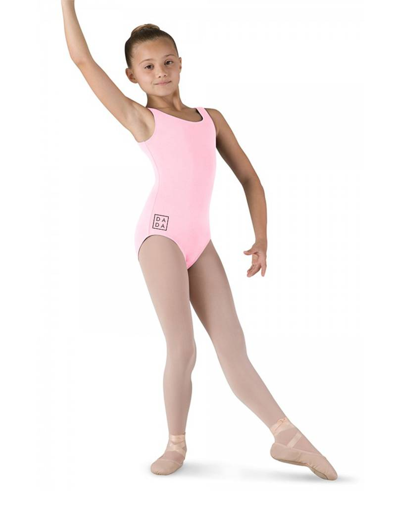 Bloch CL5405: Bloch Tutu Girls' Tank Leotard with DADA Logo on Hip and Back