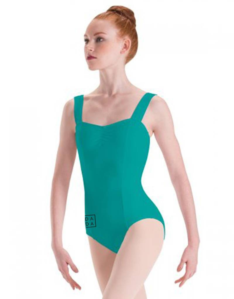 MotionWear MW2720: MotionWear Long Torso Wide Strap Camisole Leotard with DADA Logo on Hip