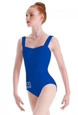 MotionWear MW2643: MotionWear Wide Strap Princess Seam Camisole Leotard with DADA Logo on Hip and Back