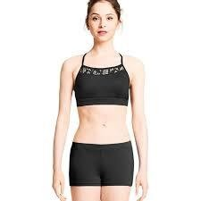 Bloch M2135LM- Racer Back Crop Top