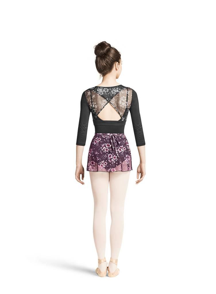 Bloch MS105- Floral Mesh Skirt