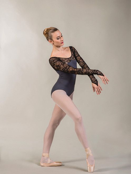 Ballet Rosa PANAME- LS Leo-microfiber w/lace