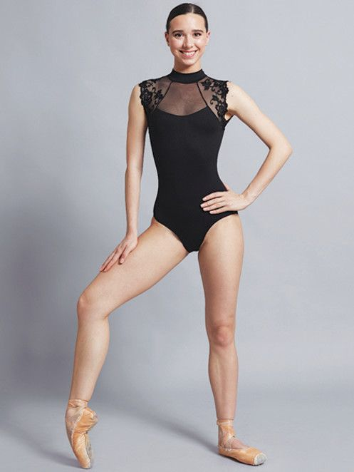 Ballet Rosa BERENICE-Hi neck Leo w/lace