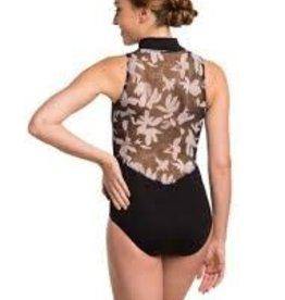 Ainsliewear AW1062FF-Zip Front Floating Flower-MED