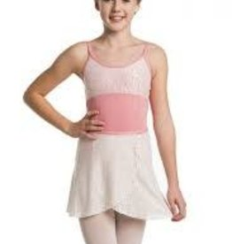 "Ainsliewear AW501DS- 13"" Girls Wrap Skirt/Daisy Lace/Coral-O/S"