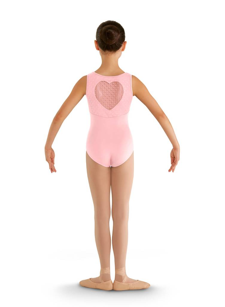 Bloch/Mirella CL7905: Bloch Girls' Miame Heart Mesh Tank Leotard