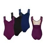 Suffolk 2107A- Chantilly pinch frnt,lace Vcut Leotard