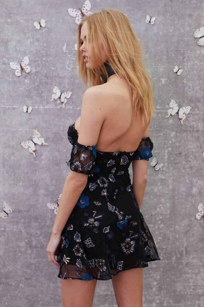 Botanic Strapless Dress