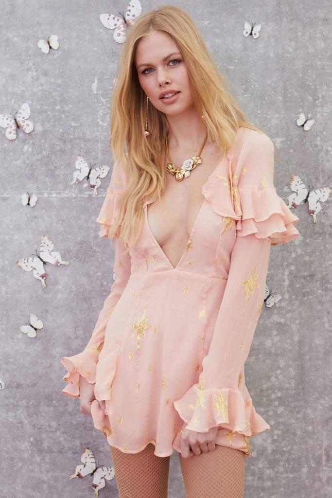 Gilded Star Mini Dress