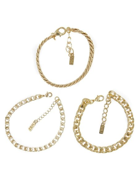 Tre Catena Bracelet Set