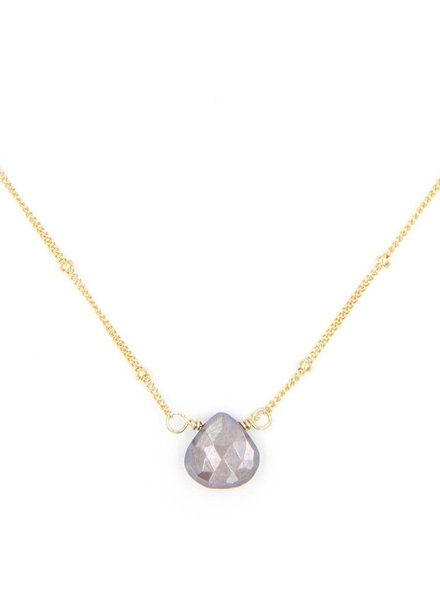 Stone Drop Choker in Mystic  Moonstone