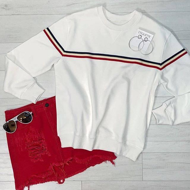 Scarlet Denim Mini Skirt
