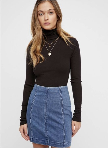 Free People Modern Femme Denim Mini