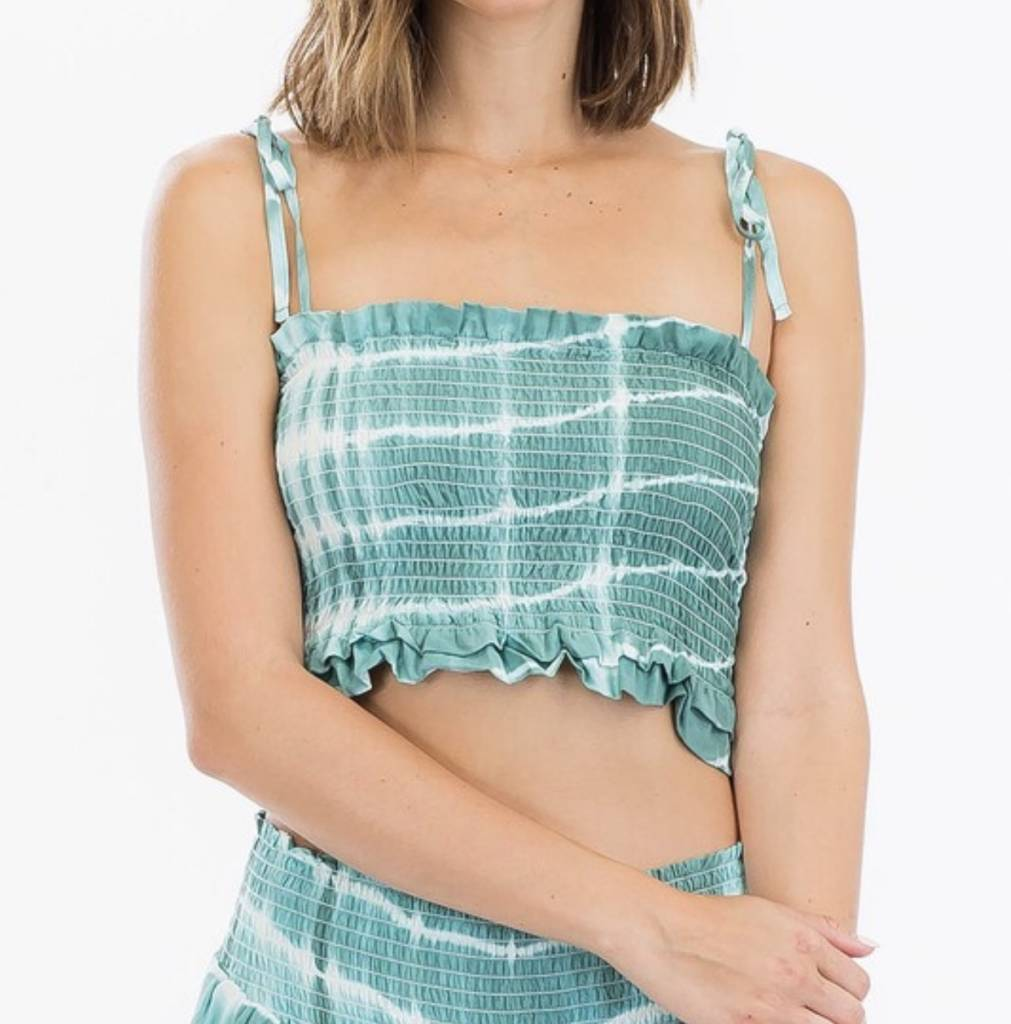 Sea Spray Tie-Dye Crop