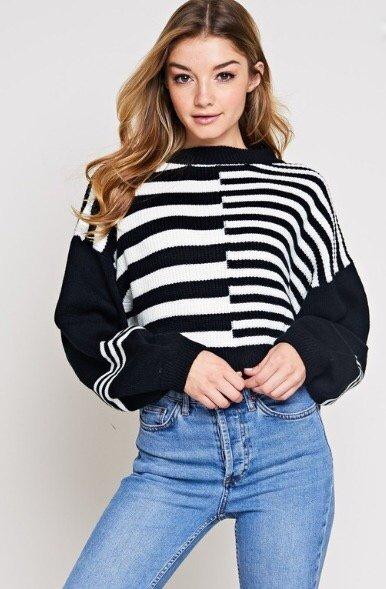 Alyssa Stripped Sweater