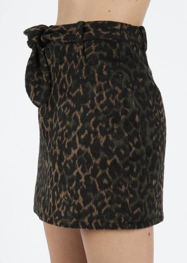 Night Leopard Skirt