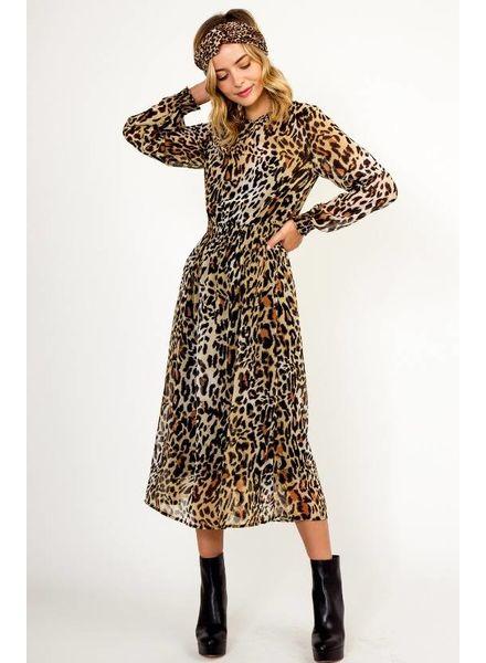 Jackie Leopard Dress