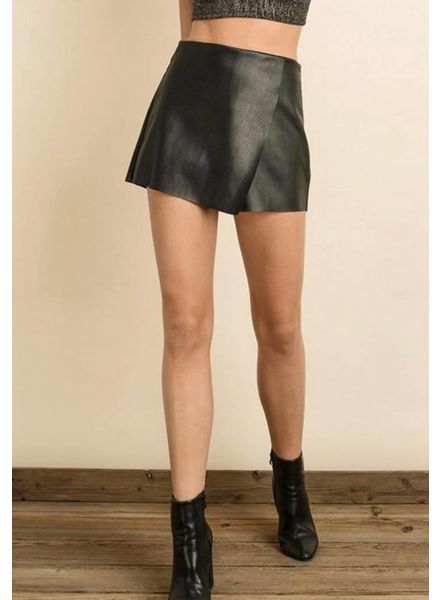 Waxy Vegan Leather Shorts