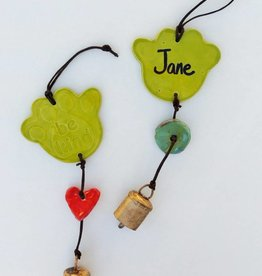 Paw Ornament w/Personalization