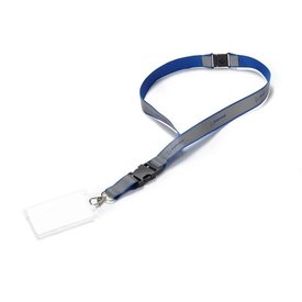 The Boeing Store Lanyard Boeing Reflective Strap Blue