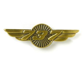 The Boeing Store PIN B737 wings bronze 1 1/2""