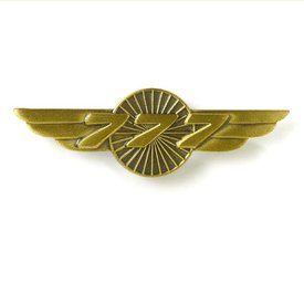 The Boeing Store PIN B777 Wings bronze 1 1/2""