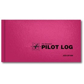 ASA - Aviation Supplies & Academics Logbook Standard Pink