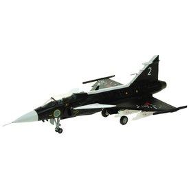 AV72 JAS38 Gripen Swedish Air Force Museum SAAB Prototype Black 2 1:72 with stand