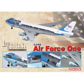 Dragon DRAGO VC25/B747-200 USAF AIR FORCE ONE CUTAWAY 1:144 W/STAND