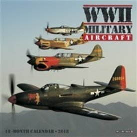 Willow Creek Press WWII Military Aircraft Mini Wall Calendar 2018 Wallick**o/p**