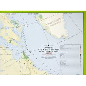 Aviator's Quick Reference Map Of Eastern Canada