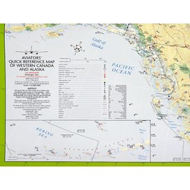 Aviator's Quick Reference Map Western Canada And Alaska
