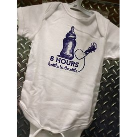 Onesie 8 Hours Bottle To Throttle 6 Months - White