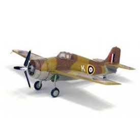 WarMaster F4F Wildcat RAF Operation Torch North Africa K desert camo 1:72 with stand